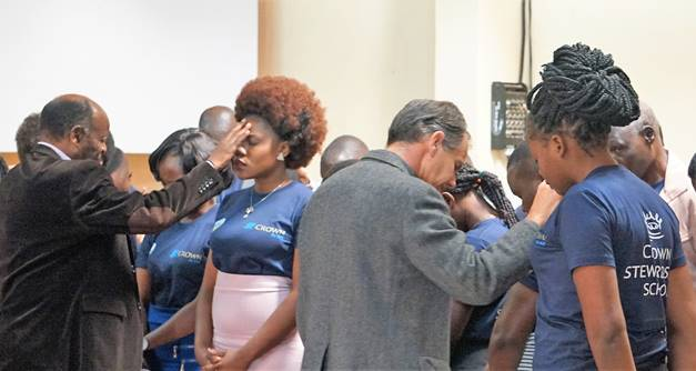 Praying over Crown trainees